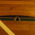 スライド式床金具バドミントン用