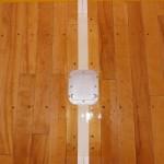 バレーボールの床金具交換です