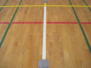 バレーボール用床金具基礎改修