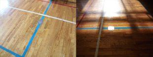 体育館バレーボール用床金具交換施工完了