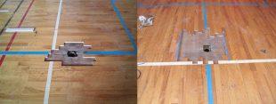体育館バレーボール用床金具解体清掃完了