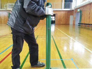 体育館バレーボール用床金具基礎改修工事