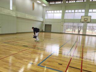 体育館床金具及びフローリングのメンテナンスについて