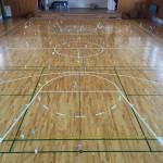 体育館床板不具合張替え修繕