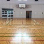 バスケットボールスポーツコートラインデザイン変更工事