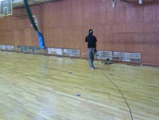 体育館ウレタン塗装