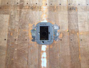 ボタンを押して開口するタイプの天板がついていました