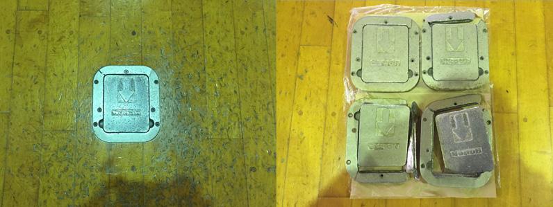天板交換前状況と破損状況
