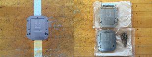 施工前床金具の状況と破損した天板