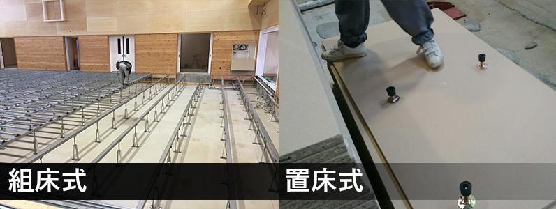 鋼製床下地組み毎の比較写真