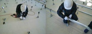 体育館鋼製床下地の施工方法について