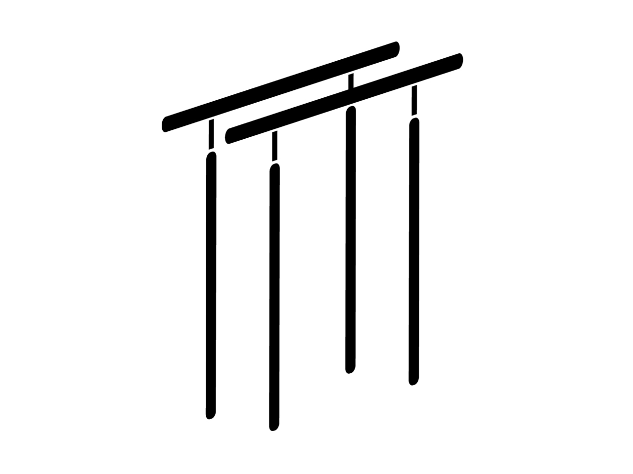 平行棒、低鉄棒用床金具