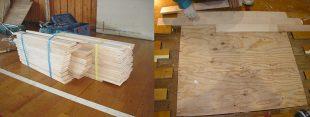 床撤去後、基礎設置、捨て貼り及びフローリング施工