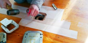 床金具取り換え蓋交換工事